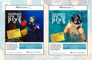Rewards Card Ad for Asian Diving Expo Event