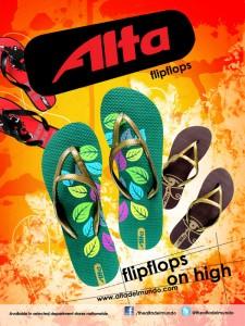 Alta flipflops ad/poster design