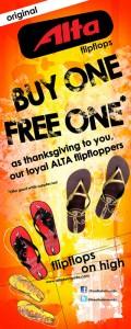 Alta flipflops promo design peg